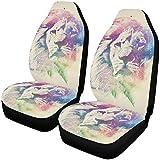 BONRI Cubiertas de asiento de coche para galletas de jengibre de acuarela con ajuste universal, 2 unidades, multi9