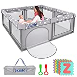 Fun Baby Playpen with Soft Educational Playmat to Keep Your Kids Safe - Baby Play Yards Lets You Do More - Store Kids Toys in The Toddler Play Yard - Play Pens for Babies and Toddlers - Play Pen