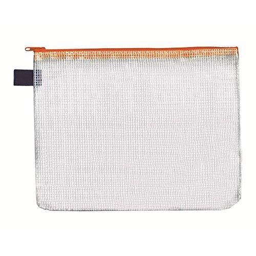 Reissverschluss-Beutel A6, mit Zip, orange, 10 Stück