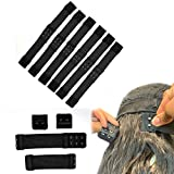 5 Pcs Black Adjustable Elastic Straps With Hooks For Wigs/Bra/Wigs Lace Closure Lace Frontal Elastic Wig Band 1.18 Inch Width (30mm )