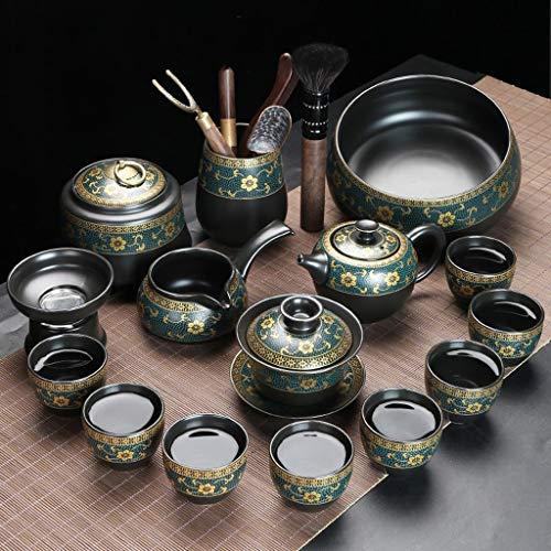 CJTMY Conjuntos de té Cerámica Kung FU Teaset Teacup Servicio de Porcelana Gaiwan Tazas de té Taza de té Tetera Tetera