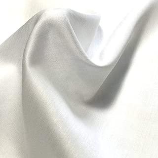 サテン 80番手 白 生地 布 綿100% 無地 白 1m単位切り売り 1,000円ポッキリ 日本製日本製