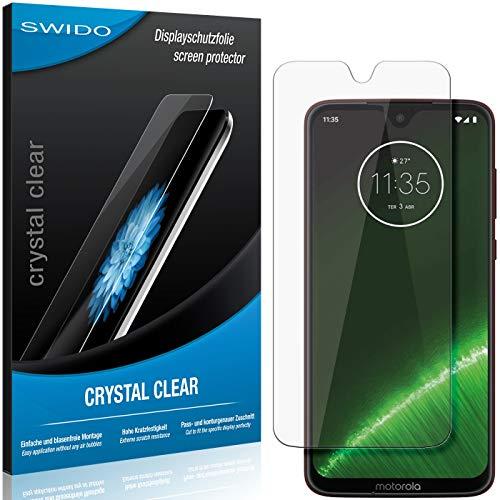 SWIDO Schutzfolie für Motorola G7 Plus [2 Stück] Kristall-Klar, Hoher Festigkeitgrad, Schutz vor Öl, Staub & Kratzer/Glasfolie, Bildschirmschutz, Bildschirmschutzfolie, Panzerglas-Folie