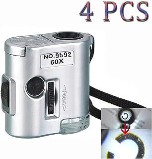 VORCOOL MG10081-1 60X-100X LED Lumineux Zoom Microscope de Poche Noir