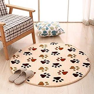 30cm/12Inch Round Rug Velvet Doormat Soft Carpet Living Room Bedroom Door Floor Mat E2S