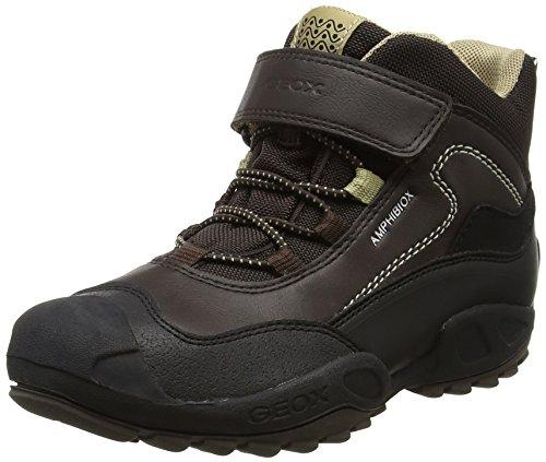 Geox Jungen J New Savage Boy B ABX A Hohe Sneaker, Braun (Brown/Beige), 25 EU