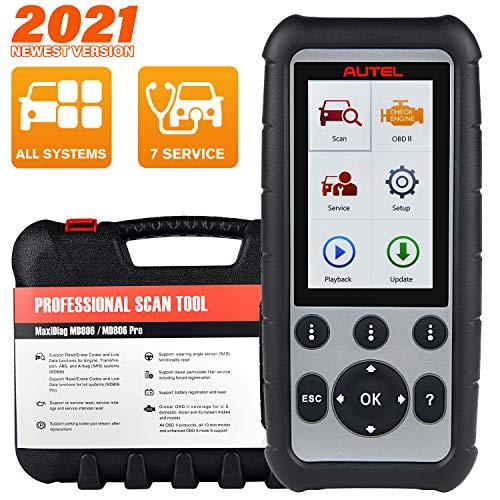 Autel MaxiDiag MD806 Pro Herramienta de Diagnóstico de Automóviles, Escáner OBD2 con Diagnóstico de Todos Los Sistemas, Restablecimiento de Aceite, EPB, SAS, DPF, BMS, Acelerador
