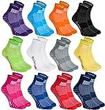 Rainbow Socks - Hombre Mujer Calcetines Deporte Colores de Algodón - 12 Pares - Multicolor - Talla 44-46