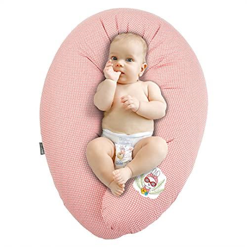 Sei Design coussin d'allaitement de qualité, oreiller de grossesse, 170 x 30cm | Remplissage: boules de fibres 3-D, testées et certifié Ökotex. Taie avec zip et broderie de haute qualité