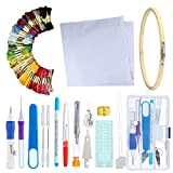 Magic Embroidery Pen Set, niceEshop(TM) Embroidery Pen Punch Needle Set, Embroidery Patterns Threads Sewing Kit, 3 Combinations to Choose, DIY Knitting Sewing Tool