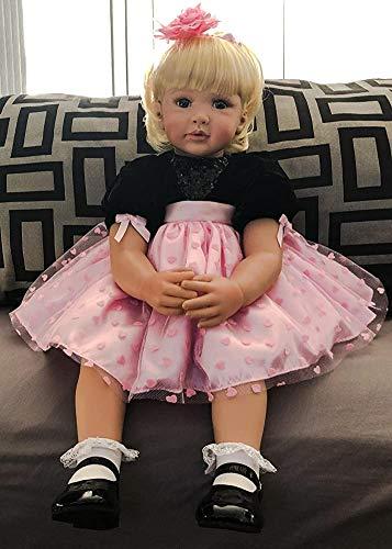 Zero Pam Reborn Dolls 24 inch Real Life Size Reborn Toddlers Dolls Blonde Hair Princess Girls Xmas Gifts Toys Passed EN71&ASTM F963