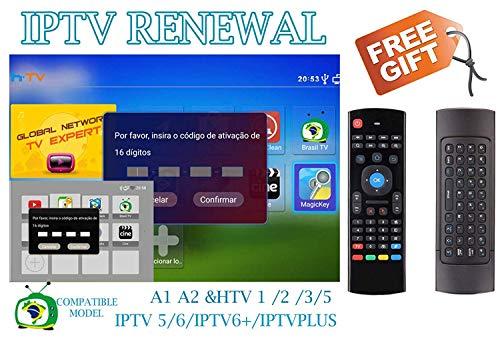 DOODOT IPTV Brazil Brazilian Renew Code, Activation Code for A1/A2/ HTV 1 2 3 5/IPTV 5 6,Subscription 16-Digit Renew Code, TV Box Brazil Code, for 400 Days,TV Box Brazil Code, A2 Renew Code,