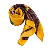 bufanda tama/ño 180 x 50 cm TigerTie damas pa/ñuelo de seda en amarillo lim/ón monocromo