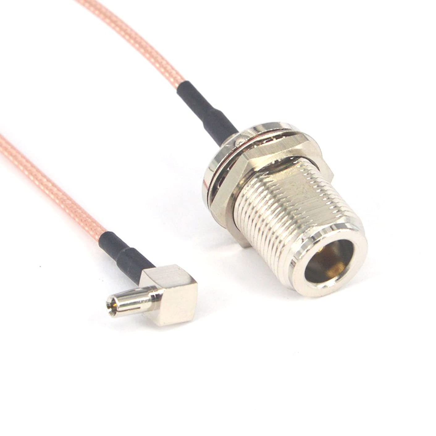 RF Coaxial N Female Bulkhead to TS9 Male Right Angle Connector USB Modem Adapter Extension Cable 6 inch