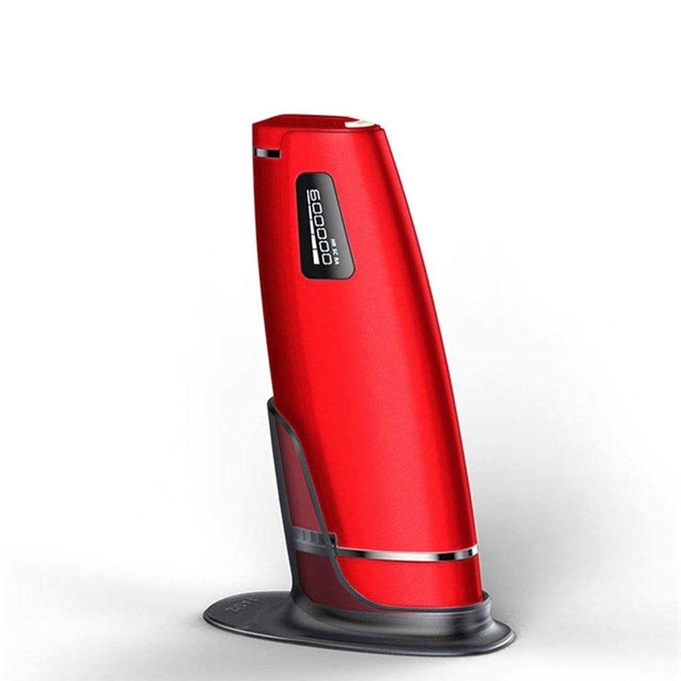 国勢調査実用的感謝赤、デュアルモード、ホームオートマチック無痛脱毛剤、携帯用永久脱毛剤、5スピード調整、サイズ20.5 X 4.5 X 7 Cm 安全性 (Color : Red)