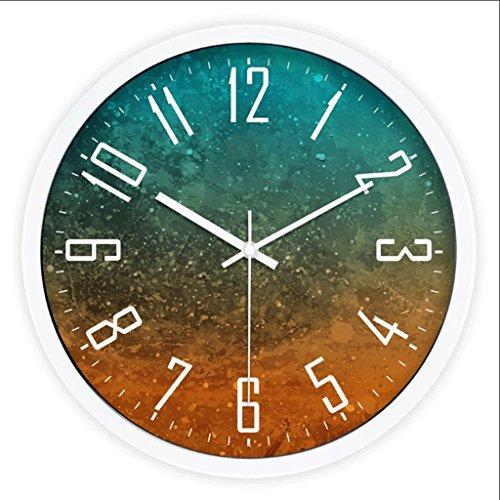 LINGZHIGAN Personnalité de mode créative Table suspendue Chambre Salon Mute Clock ( Couleur : Blanc )
