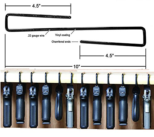 E-ONSALE AmeriGun Club Easy Use Gun Hanger Pack of 12 Original Handgun Hangers (12 Packs)