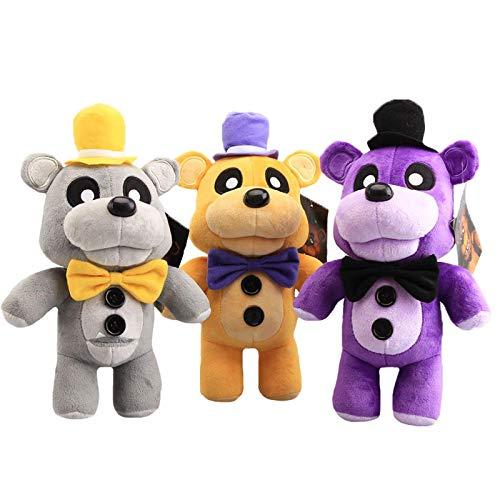 FNAF Plüschtier Puppe Kawaii Cartoon Foxy Bär Plüschtier Puppe Tier Fazbear Bär Plüsch Puppe Geburtstagsgeschenk für Kinder Set von 3 stück
