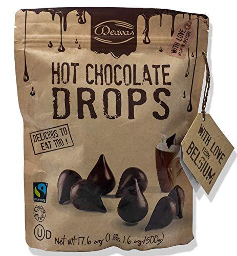 Deavas Hot Chocolate Drops- Made in Belgium with 100% Pure Belgium Chocolate