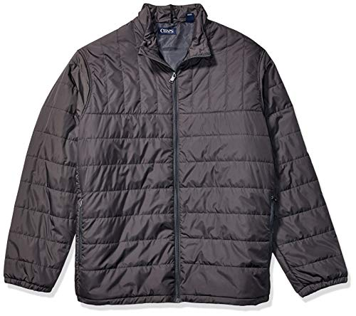 Chaps Men's Big and Tall Packable Quilted Jacket, Navy Grey, 3XLT