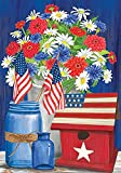 Briarwood Lane Red White and Blue Patriotic House Flag Floral 28' x 40'
