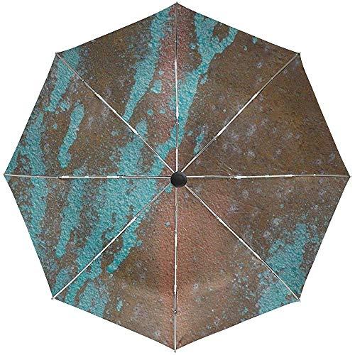Automatische Regenschirm-Oberflächenbeschaffenheit lässt Flecken-Farben-Reise bequemes winddichtes wasserdichtes faltendes Auto offenes nahes Fallen