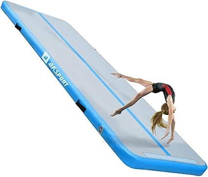 Air Track Floor Gymnastics Inflatable Balance Tumbling Home Gym Train Mat+Pump