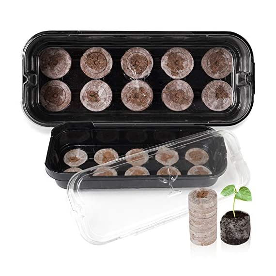 3-pack seed starting kit window garden greenhouse, adjustable humidity dome seed starter tray, mini propagator kit… 1 : reusable seed starter kit, creates growth environment needed for reliable seed germination. The holes designed make plant absorb water quickly and evenly : the transparent greenhouse cover can provide warmth and humidity. When the growth height of seedling exceeds 0. 39 inches, airflow is needed to accelerate the growth rate, so the cover provides a better growth environment and space : insert seed or cuttings and keep them moist in warm greenhouse. After the seeds grow up, you can even move the entire seed drive to an outdoor patio, deck planter or backyard garden. It is very suitable for people of any skill level, including children