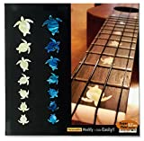 Inlay Sticker Fret Markers for Ukuleles - Sea Turtles/Honus (2 Colours Set)