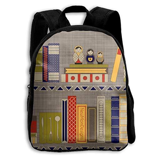 XaMiner Rucksack Bücher Mein Bücherregal Kinderrucksäcke für Jungen und Mädchen Vorschulrucksack Schultasche