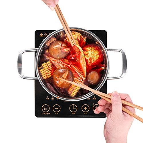 Infrarot Kochplatte - Elektrisch, 1200W, Überhitzungsschutz, Stufenlose Temperaturregulierung, aus Glaskeramik und Edelstahl - Kochfeld, Einzelkochplatte, Herdplatte, Minikochplatte