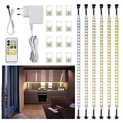 Maxuni Led Under Cabinet Lighting 6PCS, 3000k-6...