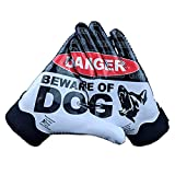 Battle Sports Beware of Dog Doom 1.0 Football Receiver Gloves (Youth, X-Large)