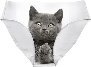 HUGS IDEA Cute Animal Print Panties Seamless Underwear for Women