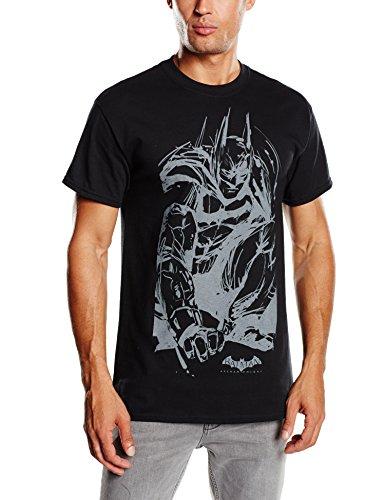 DC Comics Batman Arkham Knight Sketch Camiseta Manga Corta,