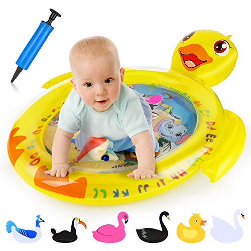Buy Discount EKOOS Tummy Time Baby Water Mat Infant Toy Inflatable Play Mat for 3 6 9 Months Newborn...