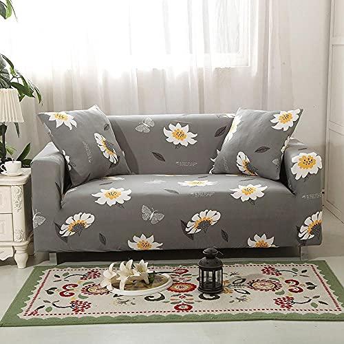 Fundas de sillón Suministros para el hogar 3 plazas y 4 plazas, Fundas de Tela Escocesa geométricas Fundas de sofá elásticas para Sala de Estar, Fundas elásticas sofá Toalla de sofá 2PCS