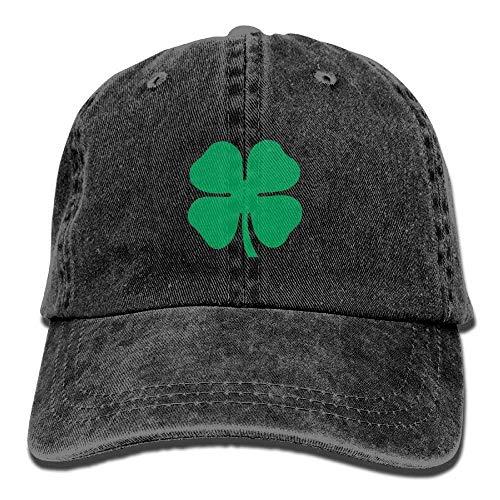 Hoswee Baseballmütze Hüte Kappe Lucky 4-Leaf Clover Unisex Denim Baseball Cap Adjustable Snapback Hats