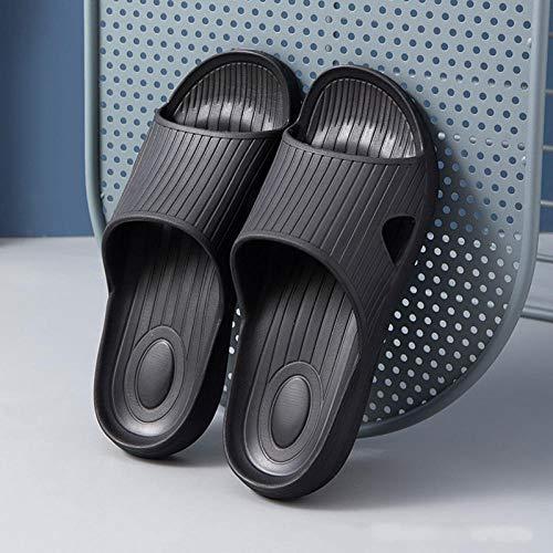 B/H Baño Sandalia Suela De Suave,Zapatillas de baño Antideslizantes para baño doméstico,Sandalias y Zapatillas EVA-Negro_42-43,Sandalias De Ducha de Casa