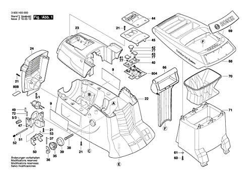 Bosch 2609002555 - Parte superiore di ricambio per trituratore da giardino AXT 25 D - AXT 25 TC