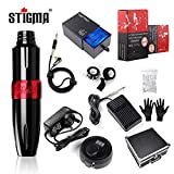 Stigma Tattoo Maschine Kit Rotary Tattoo Maschine Stift 20stk. Tattoo Cartridges Patrone Digital...