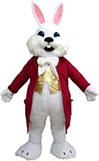 Adult Size Funny White Easter Bunny Suit Rabbit Mascot Costume for Easter Holiday