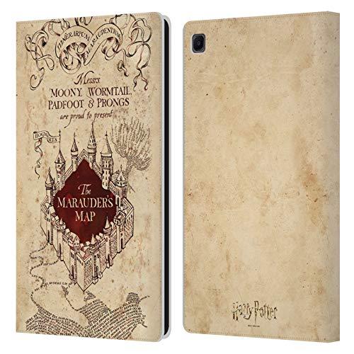 Head Case Designs Ufficiale Harry Potter The Marauder's Map Prisoner of Azkaban II Cover in Pelle a Portafoglio Compatibile con Samsung Galaxy Tab S6 Lite
