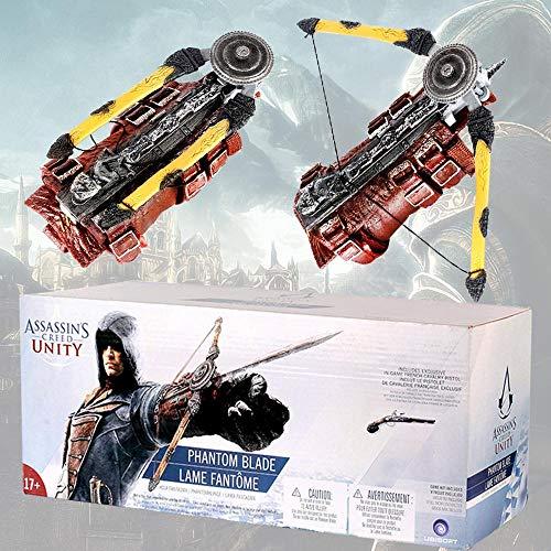 Assassin's Creed Unity - Phantom Blade Edward Hidden Blade Props de Armas Hero Wristband con Manga Arrows Sleeve Sword Cosplay Gloves 40 * 18 * 15cm