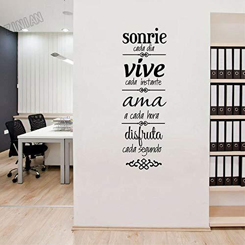 Hausregeln Wandaufkleber Vinyl DIY Aufkleber Spanische Version Normas De Casa Zitate Schlafzimmer Wohnzimmer Home Decoration Kunst Wandbild Poster