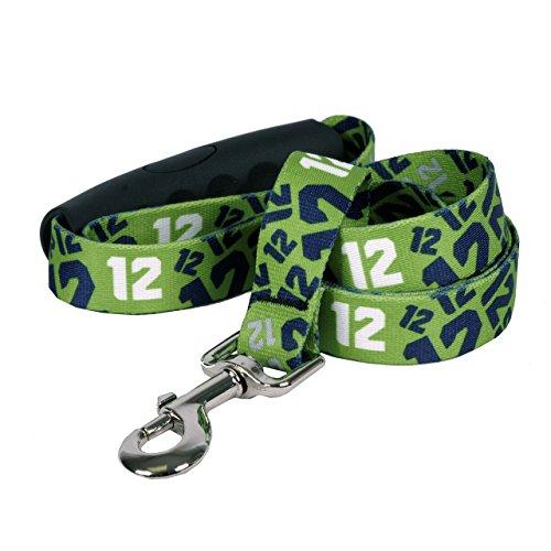 Yellow Dog Design 12Th Dog Green Ez-Grip Dog Leash with Comfort Handle 1