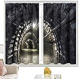Cortinas y cortinas Terror Casa de Terror Túnel Subterráneo W52 x L63 Pulgadas Cortinas opacas
