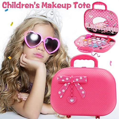 23 PCS Schminkkoffer Mädchen Kinder Schminkset Kinderkosmetik Kit Frozen Kosmetikkoffer für Kindertag Birthday Geschenk - Rosa