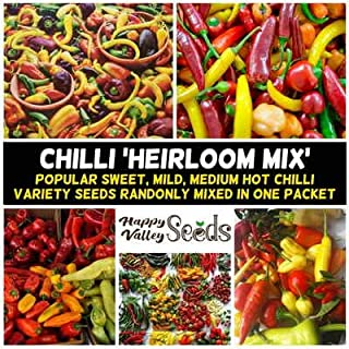 Mix Chilli 15+ Seeds All Types Chili Pepper Mixed Spring Summer Vegetable Garden