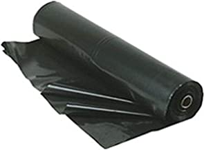 TRM Manufacturing 610B Weatherall 6 Mil Black Poly Plastic Sheet, 1 Box of 100 Feet Long by 10 Feet Wide